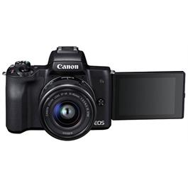 Canon EOS M50 Mirrorless Camera With EF-M 15-45mm IS STM Lens - Black Thumbnail Image 7